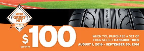 Hankook Great Hit 2016 Rebate