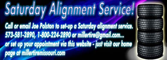 Saturday Alignment Services Available Now!
